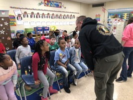 Illinois State Police K-9 Unit visits Bernard Long Elementary
