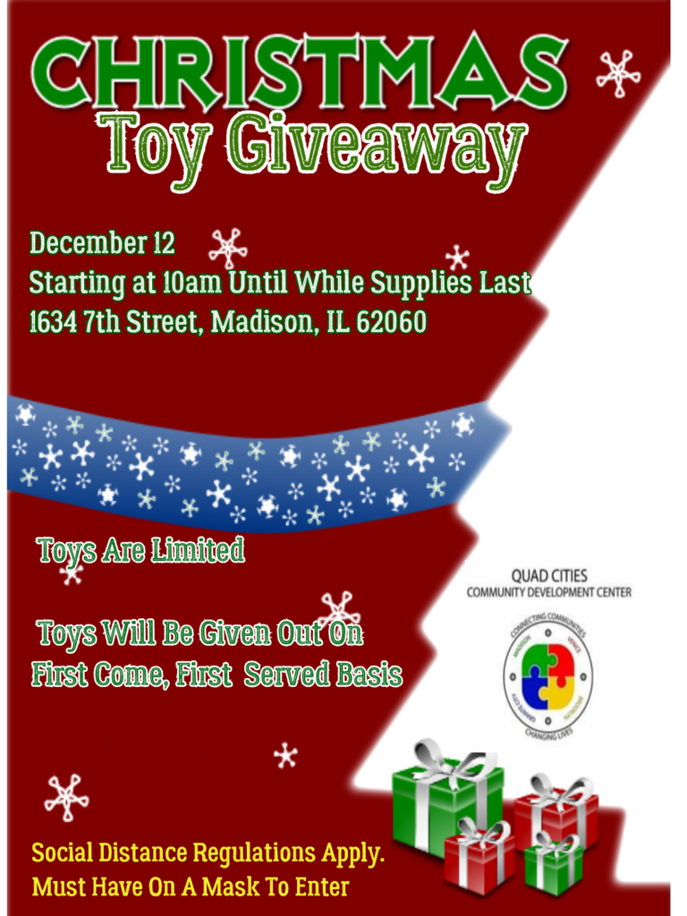 Holiday Toy Giveaway Flyer