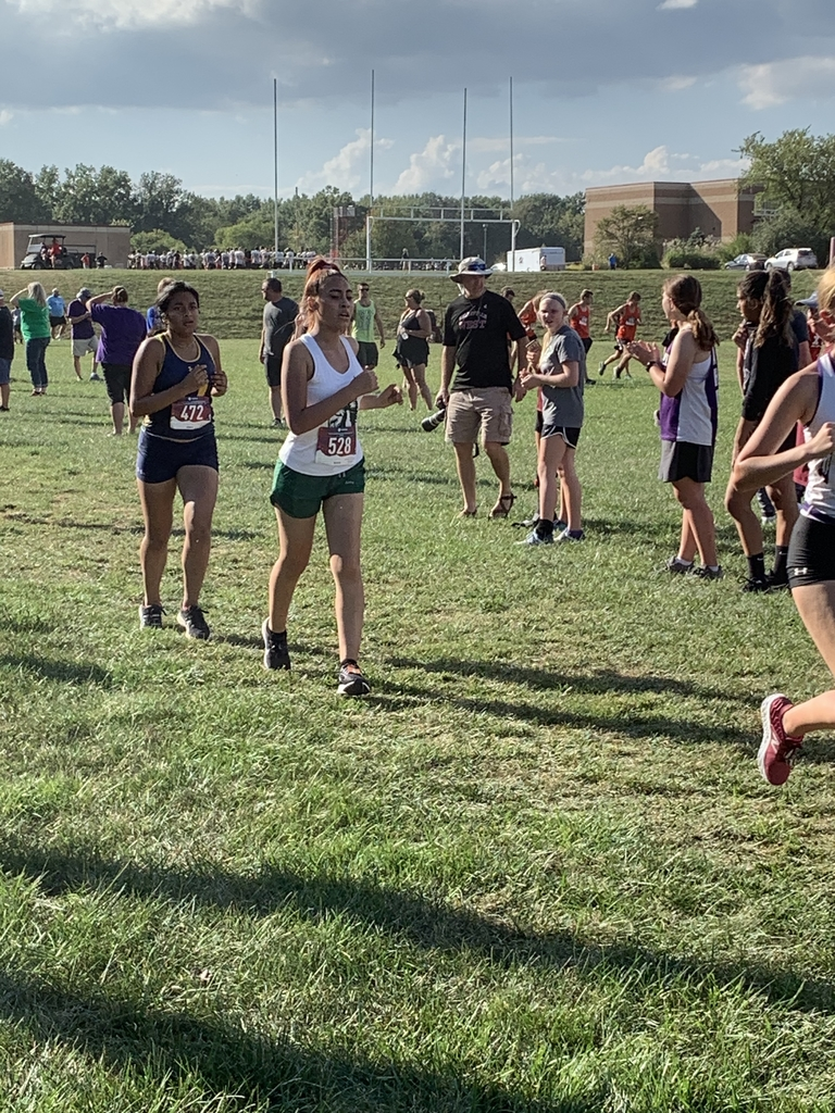 Brisa Morales running in her first meet!